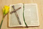 Libro de oración de pascua — Foto de Stock