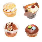 Four cup cakes — Stock Photo