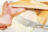 Bacon egg and toast — Stock Photo