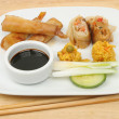 Chinese snacks on plate — Stok Fotoğraf #16943095