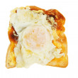 Fried egg on toast — Stock Photo