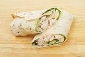 Chicken bread wraps — Stock Photo