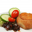 Pork pie salad and pickle — Stock Photo