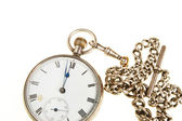 Antique pocket watch and chain — Stock Photo
