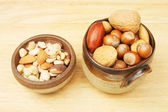 Bowls of nuts — Stock Photo