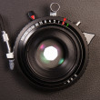 Large format camera lens — Stock Photo
