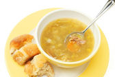 Chicken and vegetable soup — Stock Photo