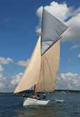 Classic sailing yacht — Stock Photo