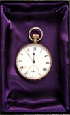 Pocket watch in gift box — 图库照片