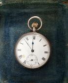 Antique watch on velvet — Стоковое фото