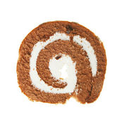 Slice of swiss roll — Stock Photo