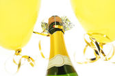 Champagne and balloons — Stockfoto