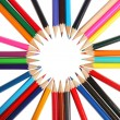 Stock Photo: Group of colored pencils