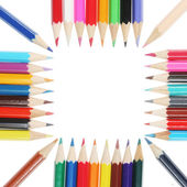 Colored pencils square — Stock Photo
