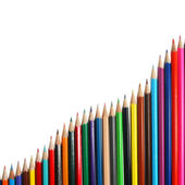 Pencil chart — Stock Photo