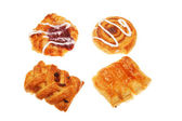 Group of Danish pastries — Stock Photo