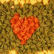 Trottole pasta heart — Stock Photo