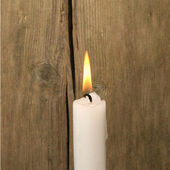 Burning candle — Foto Stock