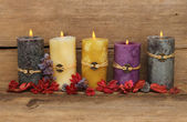 Feng Shui candles — Stock Photo