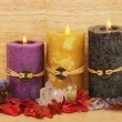 Three candles — Foto Stock