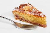 Bakewell tart and fork — Stock Photo