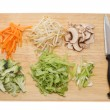 Stir fry ingredients — Stock Photo