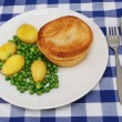 Stock Photo: Pie and veg
