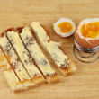 Boiled egg and soldiers — Stock Photo #36577625