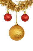 Red and gold baubles — Stock Photo