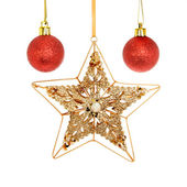 Star and baubles — Stock Photo