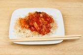 Chiński posiłek — Zdjęcie stockowe