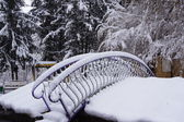 Snow bridge — Stock Photo