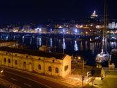 Vecchio porto nella notte di marsiglia — Foto Stock