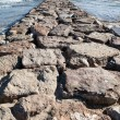 Stone breakwater — Stock Photo