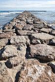 Sten vågbrytaren — Stockfoto