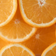 Orange slices overlapping — Stock Photo