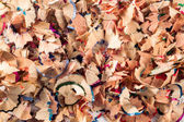 A lot of pencil shavings — Stock Photo