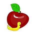 Apple worm — Stock Photo