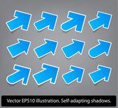 Blue paper arrows. — Stock Vector