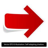 Red paper arrow. — Stock Vector