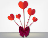 Banda papírové srdce — Stock vektor
