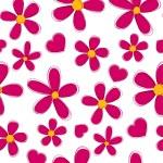 Seamless flower love background. — Stock Vector
