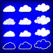 Royalty-Free Stock Vector Image: Vector illustration of clouds