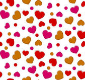 Seamless heart background. — Stock Vector