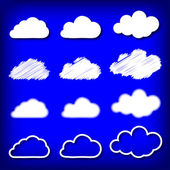 Vector illustration of clouds — Stock Vector