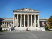 Palace of Art, Heroes Square Budapest Hungary — Stock Photo