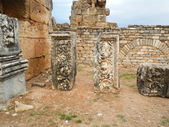 Beautifully Carved Ruins in the Ancient City of Hierapolis — Stock Photo
