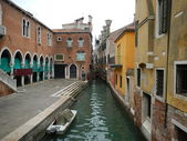 Quiet Canal and Marketplace — Stock Photo