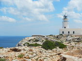 Lighthouse high above the Mediterranean — Stock Photo