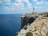 Lighthouse at Cap De Cavalleria, Menorca, Spain — Stock Photo
